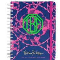 """PREORDER: Lilly Pulitzer Large Agenda """"Loopy Lilly"""" 2014/2014"""