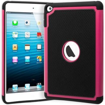 iPad Mini 4 Hybrid  Black Cover Hot Pink & Black Shock Case