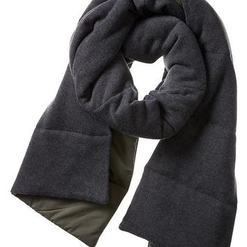 Banana Republic Mens Quilted Primaloft Scarf Size One Size - Military green