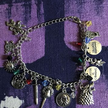 Game of Thrones Westeros Charm Bracelet