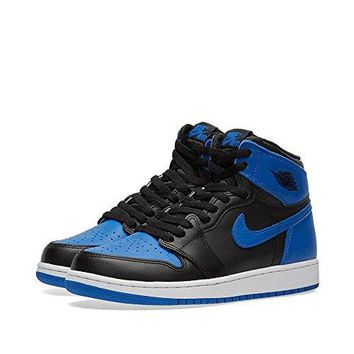 Nike Kids Air Jordan 1 Retro High OG BG Black/White 575441-007  air jordans retro