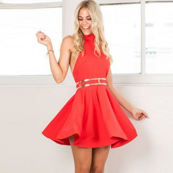 Bow Halter sexy halter dress big swing