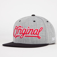 Kr3w Original Mens Snapback Hat Grey One Size For Men 21647111501