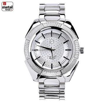 Jewelry Kay style Men's Hip Hop Fashion Silver Plated Stainless Steel Metal Band Watches WM 8362 S