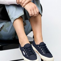 Superga Cotu Classic 2750 Navy Canvas Trainers at asos.com