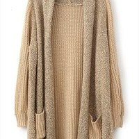 L 073007 Loose plush knit cardigan sweater from decaldramastorenvy