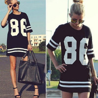 [ On Sale ] Women's Fashion Summer Sexy Cute Elegant Jersey Like Number Blouse Top Tank Shirt T-shirt   _ 2431