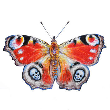 Skull Butterfly art print - limited edition