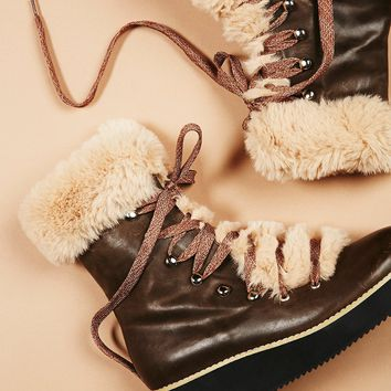 Free People Sable Lace Up Boot