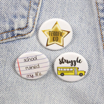 Terrific Kid 1.25 Inch Pin Back Button Badge