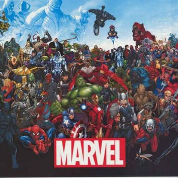 Marvel Comics Line-up 2015 Poster 22x34