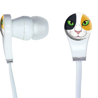 Calico Cat Face - Pet Kitty In-Ear Headphones