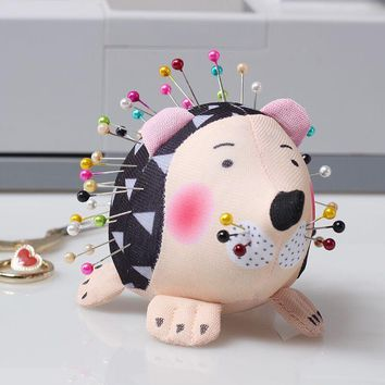 Cute PinCushion Pin Cushion Hedgehog Shape Soft Fabric Pin Cushion Round Pins Quilting Holder Women Sewing Craft Tools