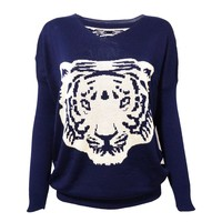 Knitted Tiger Jumper for Girls