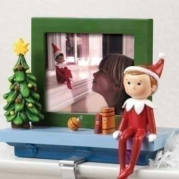 "2 Elf On The Shelf Stocking Holders - Each Frame Holds (1) 3 ""  X 3 ""  Picture"
