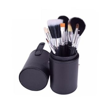 STYLEDOME 12pcs Makeup Brushes Kit Holder Cup