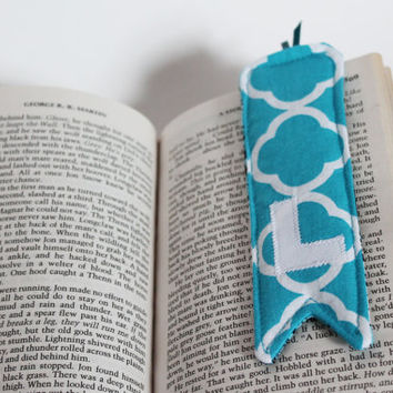 CUSTOM Bookmark, Personalized, Initial, Reversible, Fabric, Reading, Cute gift, Kids, Children, Mother's Day, Teacher gift