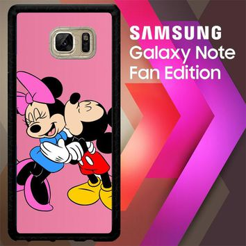 Romantic Mickey And Minnie Mouse Z1357 Samsung Galaxy Note FE Fan Edition Case