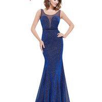 Elegant Long Royal Blue Prom Dress 2016 Sexy Sleeveless  Prom Dress Ever Pretty HE08822 Sweetheart Fashion Party Prom Dress
