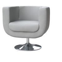 Bliss Chair Leatherette Gray