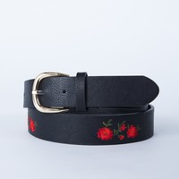 Rose Embroidered Belt
