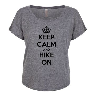 Keep Calm And Hike On Women's Dolman