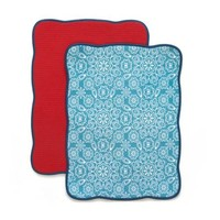 The Pioneer Woman Bandana Reversible Dish Drying Mat, 2pk - Walmart.com