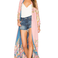 Spell & The Gypsy Collective Blue Skies Luxe Reversible Kimono in Blue & Candy | REVOLVE