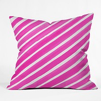 Rebecca Allen Pretty In Stripes Pink Throw Pillow