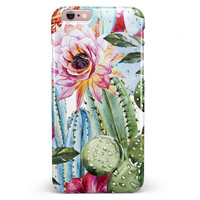 Vintage Watercolor Cactus Bloom iPhone 6/6s or 6/6s Plus Candy Shell Case