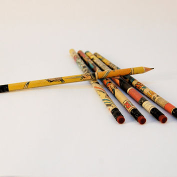 Vintage Comic Book Pencils - Set of 4