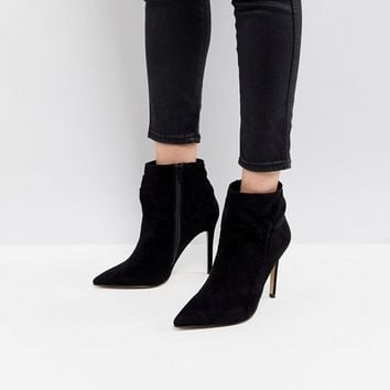 Lipsy Bow Detail Pointed Ankle Boot at asos.com