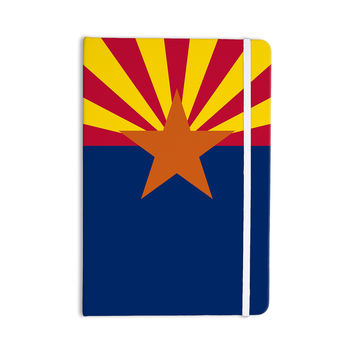 "Bruce Stanfield ""Flag Of Arizona"" Red Blue Everything Notebook"