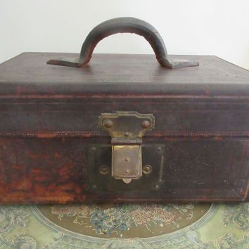 Leather Valise Rustic Leather Carry Bag T H Pritchard Rochester NY
