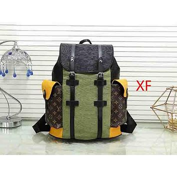 LV Louis Vuitton Woman Men Fashion Travel Leather Backpack Bookbag