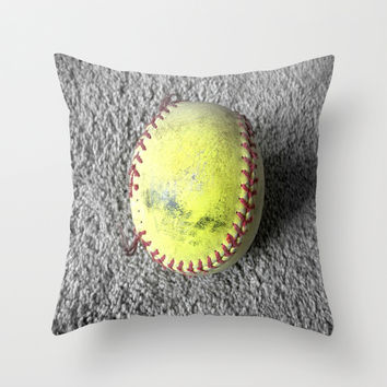 The Softball Throw Pillow by Jessielee