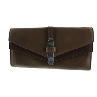 Kooba Womens Trifold Leather Colorblock Clutch Wallet