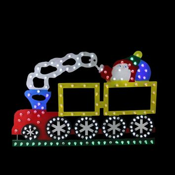 "12.25"" Lighted LED Multi-Color Train Christmas Window Silhouette Decoration"