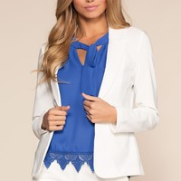 Now Or Never Blazer - White