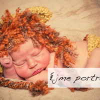 Baby Lion Hat WITH Diaper Cover-Matching 2 Piece Set-Perfect Newborn Photo Prop