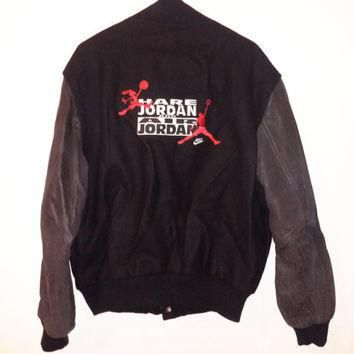 Vintag NIKE Hare Jordan Air Jordan Varsity Jacket OG Looney Tunes Air Retro Bred XL