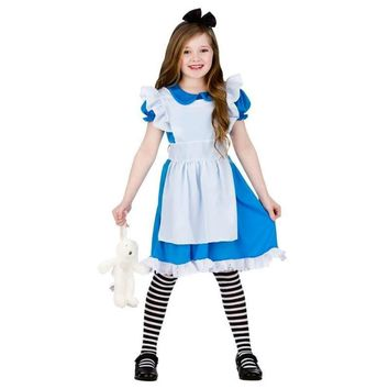 Princess Girl Dresses Children Clothing Alice In Wonderland Cosplay Costume Fancy Party Dress Girls Dress Kid 3-12Y