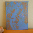 Abstract Painting Blue and Bronze 9 x 12 by Acires on Etsy