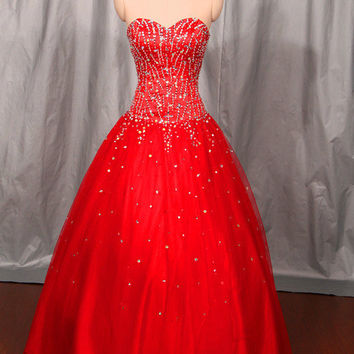 red floor length sweetheart quinceanera dresses   unique beaded gowns for quinceanera prom    modern ball gown party dress with sequins