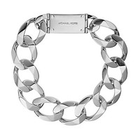 Michael Kors Oversized Curb Chain Logo Plate Collar Necklace, 18"