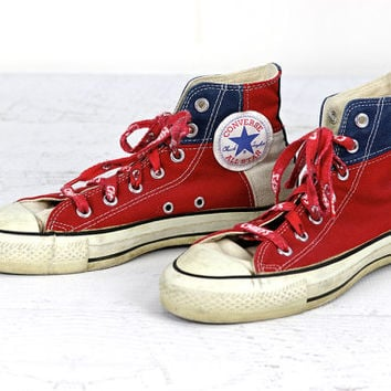 Vintage Chuck Taylor Converse High Top Shoes, Vintage Converse Tennis Shoes