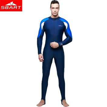 SBART Men Long Sleeve Lycra Wetsuit Women Spearfishing Surfing Scuba Diving Equipment Anti-UV Quick-dry Wet Suit Plus Size 4XL N