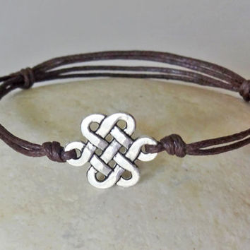 Love Knot Bracelet or Anklet in Silver