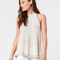 BLU PEPPER Marled Knit Womens Tank | Tunics