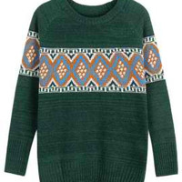 Green Vintage Knitted Sweater